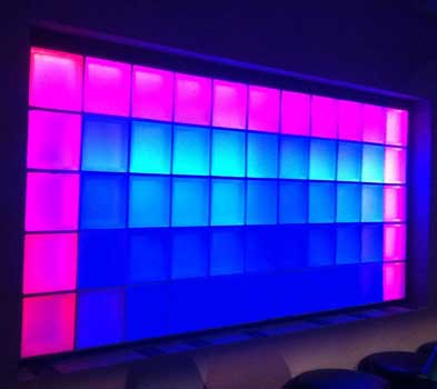 LED colour changing wall